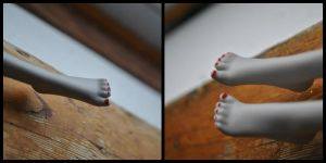 Cute little red Toes for my MH custom doll by AnonFanboy