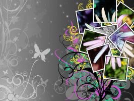 Wallpaper Collage Flower by LorenzoDiFolco