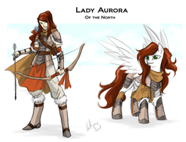 Commission - Lady Aurora by Valkyrie-Girl