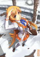 Mirai Suenaga Winter by mysticswordsman21