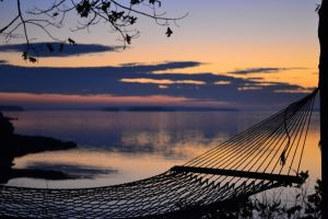 Hammock at Dusk by Sanguineyouth