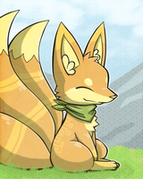 Fox with 3 tails by Chigle