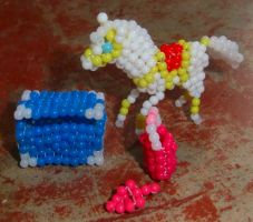 Beaded Dynamo with containers by Anabiyeni