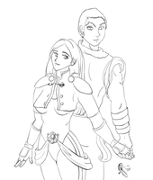 Jasutin and Mika request by AluminumSunset