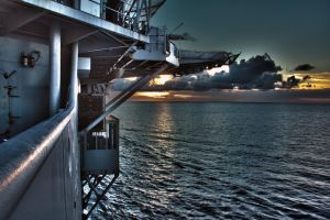 HDR Sunset off the USS Essex by TimGrey