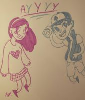 Dipper and Mabel by FalseEquilibrium