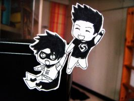 Paper Child Kon and Tim by minicooly