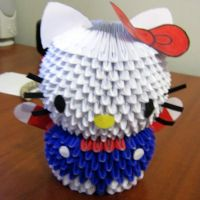 Hello Kitty modular origami by JanLukaz
