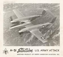 North American A-51 ''Stallion'' by Bispro