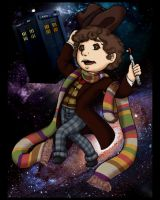 4th Doctor Midgie by Sketchymaloo