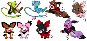 Cheap Pokemon adoption set / OPEN by Point-Kahvis