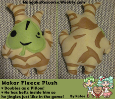 Makar Fleece Plush/Pillow by Kafae-Latte