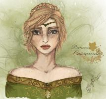 Princess Cassandra of Araluen (colored) by AquariusMj212