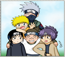 Naruto - Team Kakashi by mdchan