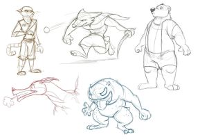 Character Sketch Dump #1 by Temiree
