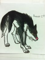 DS August 29 - Wolf by modestmonster
