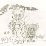 Out of the forest and onto the beach by evilmeep