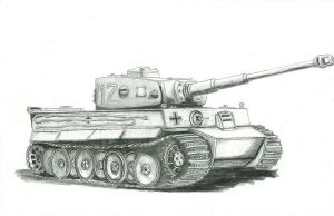 tiger tank final by drewivy