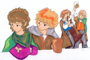 Hobbits by julewooster