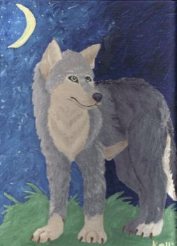 Wolfy painting :fin: by manteroo