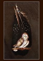 Owl feather painting by SunStateGalleries