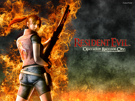 Claire Redfield Fire by UndeadTeddy