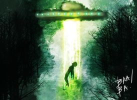 alien abduction speed paint by 2BeanSoup