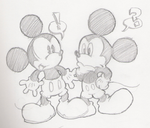 Mickey Meets Mickey by Purp1eDragon