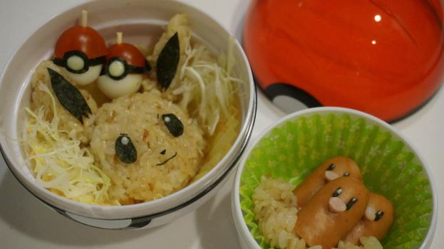 Eevee bento (tutorial inside) by minicuteclub