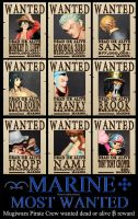 WANTED Mugiwara Pirate Crew by MemiorsOfAnOtaku