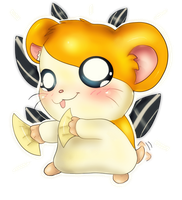 It's Hamtaro TIME by LilRedGummie
