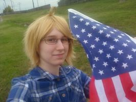 America: Red White and Blue by ButterflyRitsuka