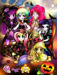 EQG_Nightmare Night by ShikimaAkemi