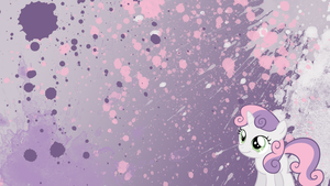 Sweetie Belle Splatter Wallpaper by brightrai