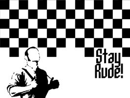 Stay Rude Wallpaper by jacques69