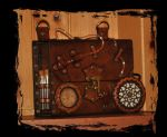steampunk shoulder bag plasma by Lagueuse