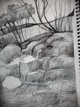 practicing to draw nature 4 by H-U-L-I