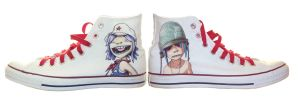 Gorillaz Shoes by MC-Fischpaste