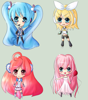Chibivocaloids by LupaChan