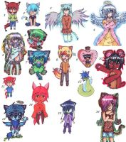 Adoptables Mix (OPEN) by IkiChan