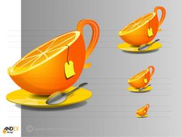 icon a cup of orange tea by AndexDesign
