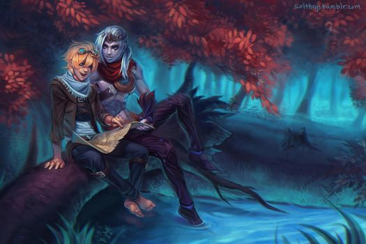 commission: varus and ezreal by irahi