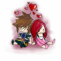 Sora and Kairi - Hearts by chillywilly101