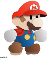 Paper Mario Lineless Vector by MrCbleck