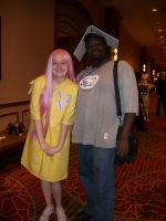 Animefest '12 - Me and Fluttershy by TexConChaser