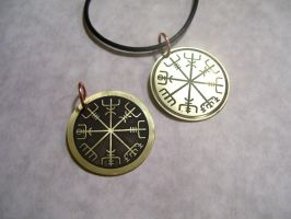 Vegvisir Pendants by creativeetching