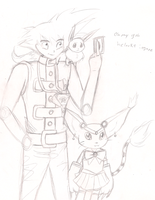 dONT ASK?? GOKU?? EEVEE? flies off into the sun by vaporeondreams