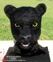Black Panther Mask Closeup by Hidden-Treasury