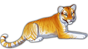 Golden tabby tiger by NarmiCreator