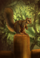 Squirrel by skullz-head